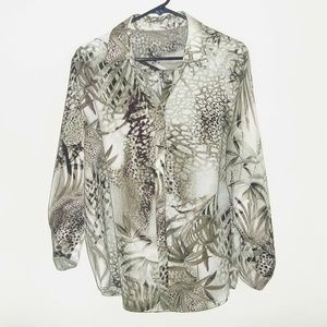 Chico's Size 3 (16 - 18) Tropical Print Blouse